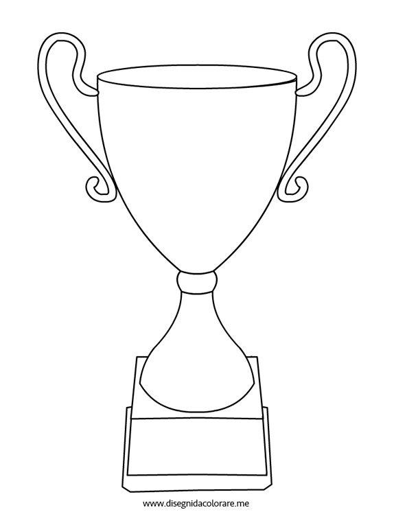 Coppa premio disegni da colorare