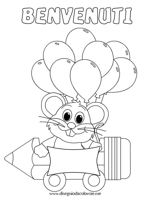 Accoglienza scuola benvenuti disegni da colorare - Torna a scuola da colorare ...