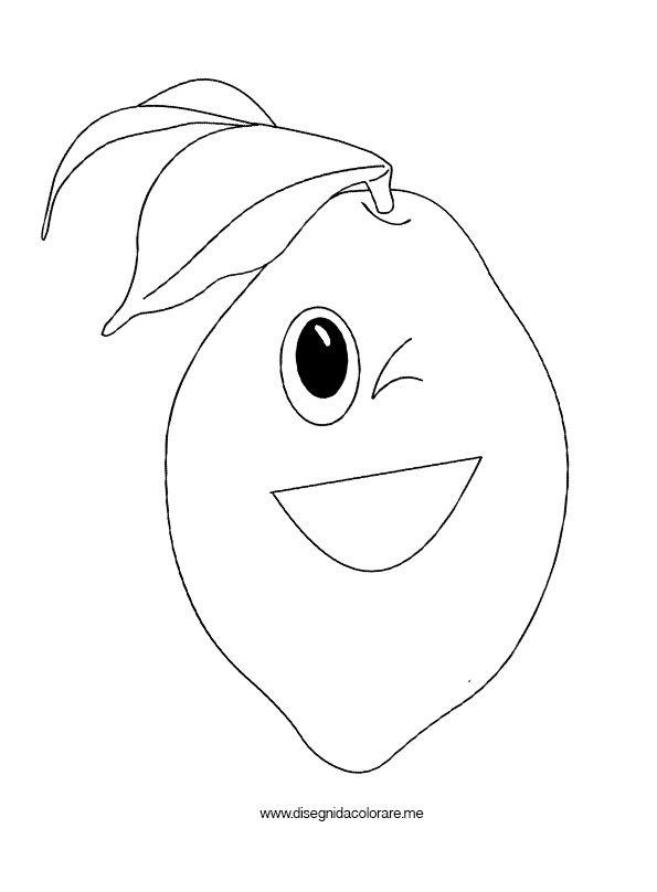 Limone cartoon disegni da colorare for Frutta da colorare e ritagliare