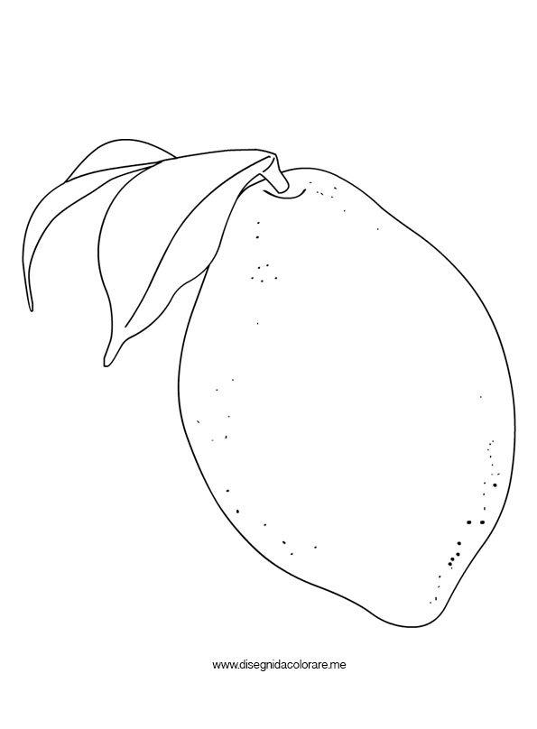 Limone da colorare disegni da colorare for Frutta da colorare e ritagliare