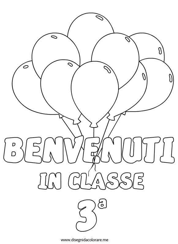 Benvenuti in classe terza disegni da colorare - Torna a scuola da colorare ...