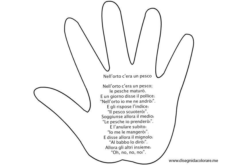 filastrocca sulle dita della mano
