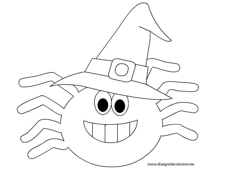 Disegni halloween da colorare ragno disegni da colorare - Pagina da colorare per halloween ...