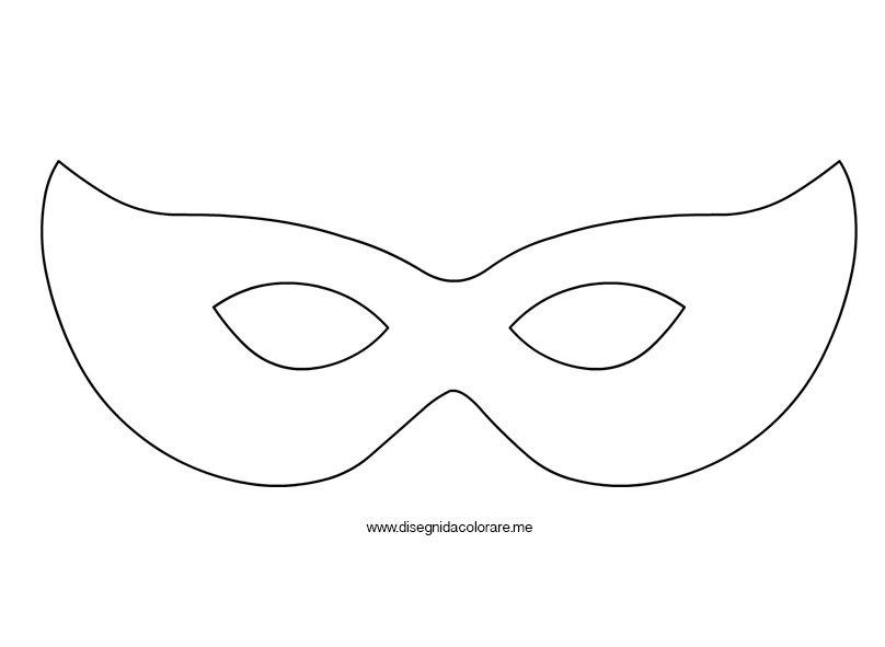 Disegno maschera di carnevale disegni da colorare for Mascherina carnevale da colorare
