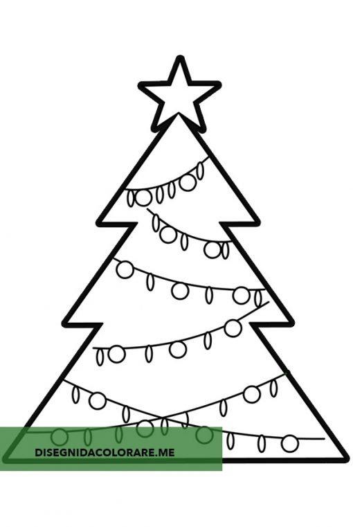 Albero Di Natale Disegno Da Colorare.Albero Di Natale Da Ritagliare Disegni Da Colorare